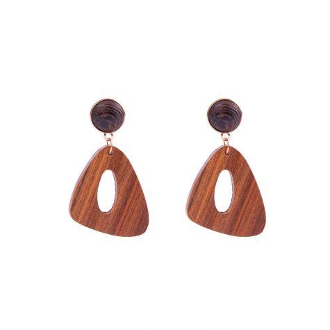 Orecchini irregolare in legno