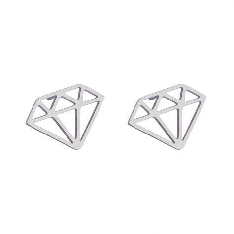 Orecchini diamante in acciaio