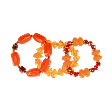 3 bracciali orange