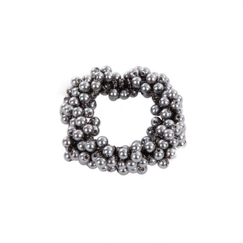 Fermacoda elastico con perle
