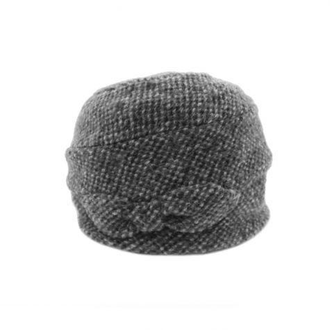 Cappello cloche con fiocco laterale