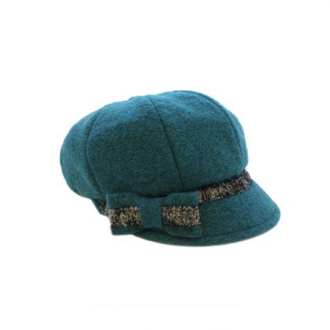 Cappello monello con fiocco laterale