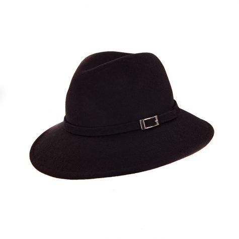 Cappello borsalino in lana con fibbia