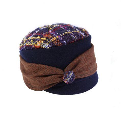 Cappello lana cotta con visiera