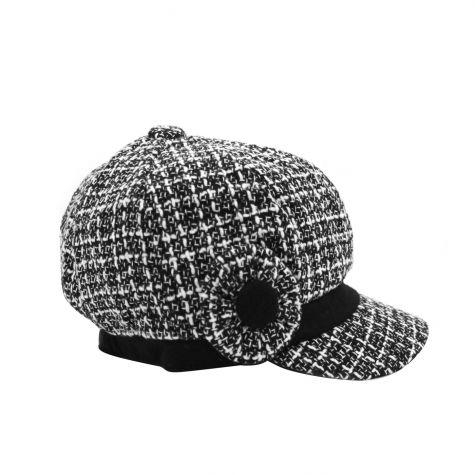 Cappello baker bianco e nero