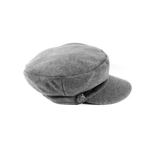 Cappello buker con treccia e bottone