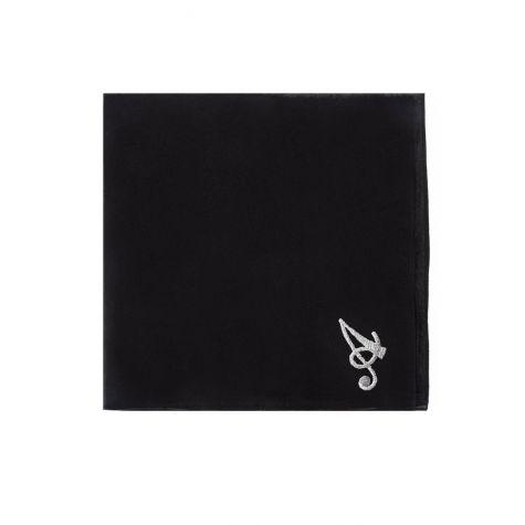 Foulard nero con iniziale A