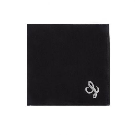 Foulard nero con iniziale L