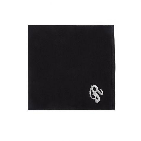 Foulard nero con iniziale R