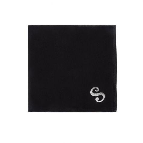 Foulard nero con iniziale S