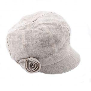 Cappello in lino con visiera
