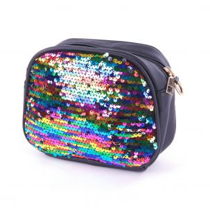 Mini bag paillettes color multicolor