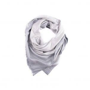 Sciarpa - stola sfumata laminata color argento