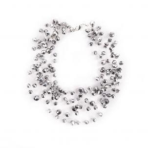 Collana multifilo con sfere sfaccettate