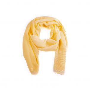 Sciarpa plisse bicolor giallo